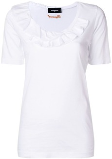 Dsquared2 ruffle trim T-shirt