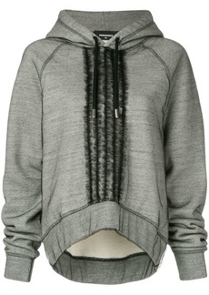 Dsquared2 ruffle-trimmed hoodie