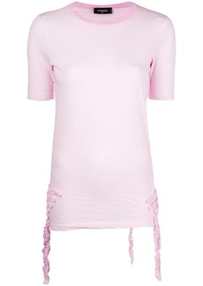 Dsquared2 ruffle-trimmed T-shirt
