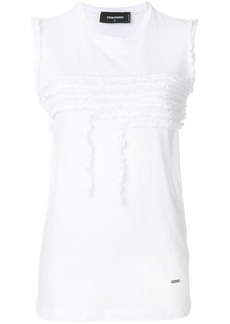 Dsquared2 ruffle trimmed tank top