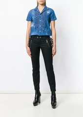 Dsquared2 ruffled trim denim shirt