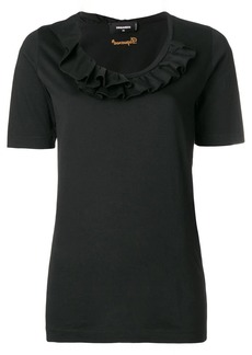 Dsquared2 ruffled trim T-shirt
