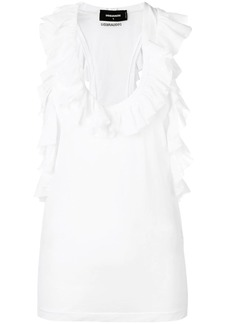 Dsquared2 ruffled vest top