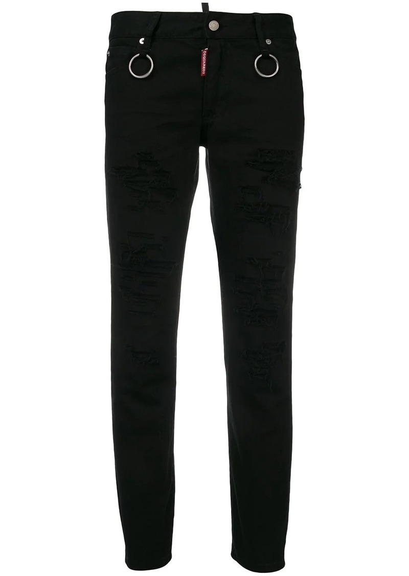 Dsquared2 Runway straight cropped jeans