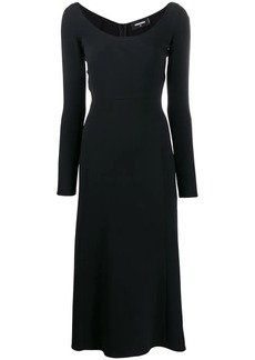 Dsquared2 scoop neck crepe dress