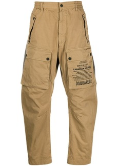 Dsquared2 script print utility trousers