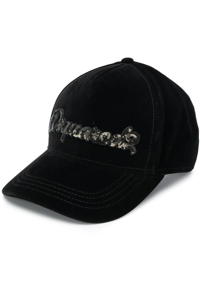 Dsquared2 sequin logo baseball cap
