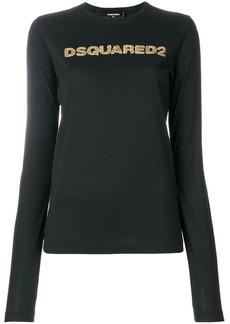 Dsquared2 sequin logo print jumper