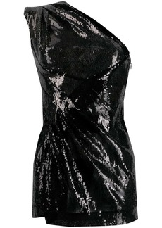 Dsquared2 sequinned one-shoulder dress