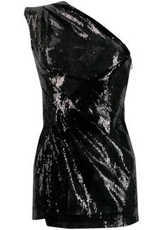 Dsquared2 sequinned one-shoulder dress