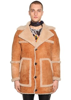 Dsquared2 Shearling & Suede Fur Coat