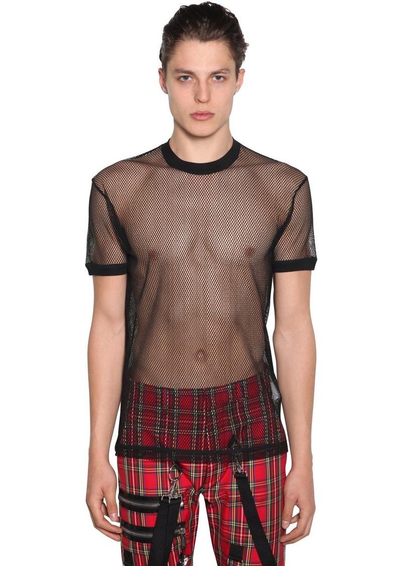 Dsquared2 Sheer Cotton Mesh T-shirt