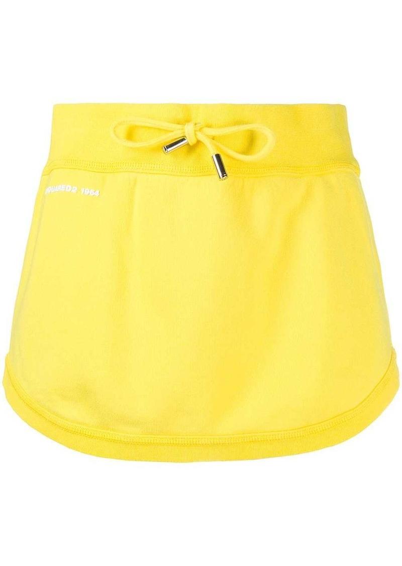 Dsquared2 short drawstring waist skirt
