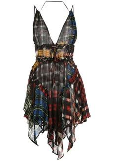 Dsquared2 short print mix dress
