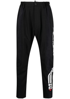 Dsquared2 side logo tapered trousers
