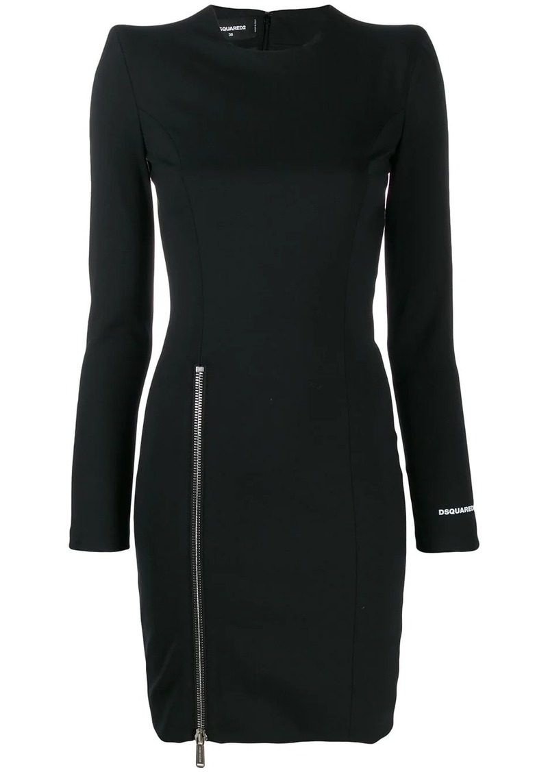 Dsquared2 side zip logo dress