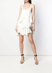 Dsquared2 silk asymmetric pleat dress