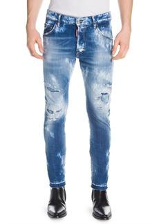 Dsquared2 Skater Distressed Acid-Wash Skinny Jeans