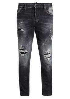 Dsquared2 Skater Paint-Splatter Destroyed Slim-Fit Jeans