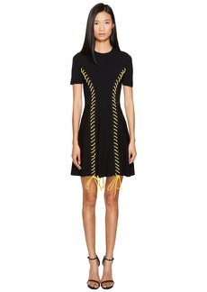 Dsquared2 Skin Biker Short Sleeve Dress