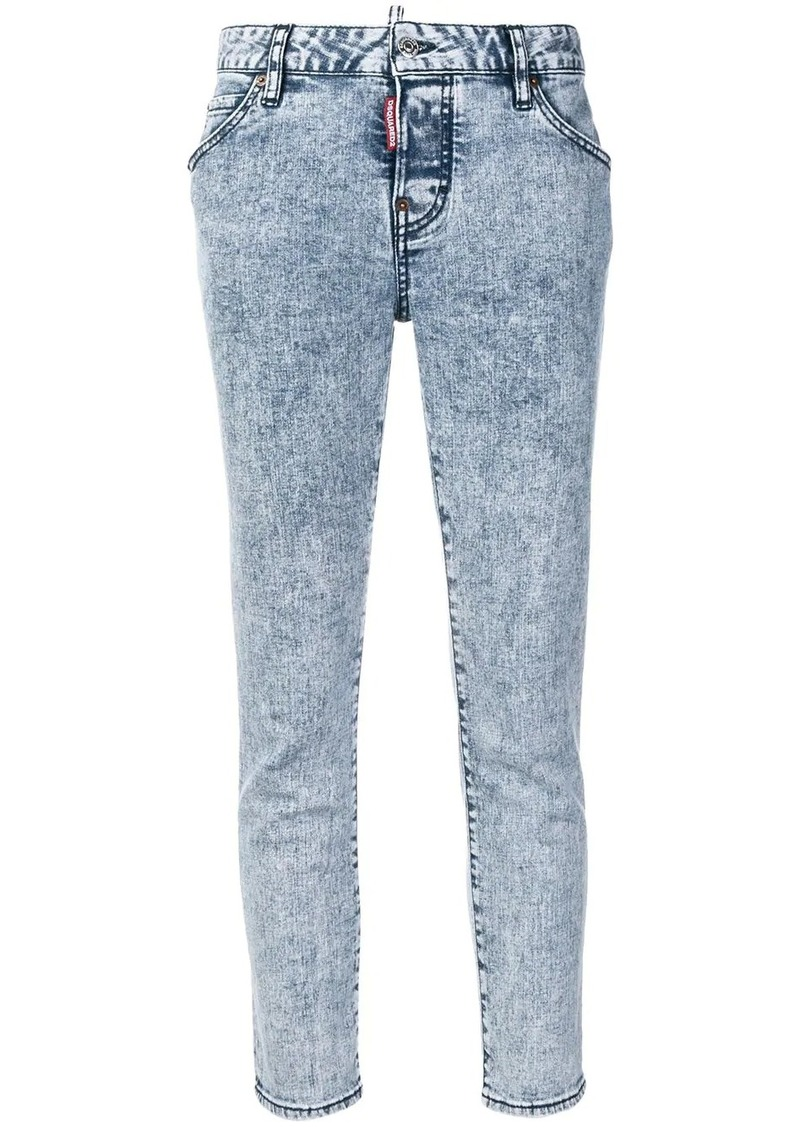 Dsquared2 skinny acid washed jeans