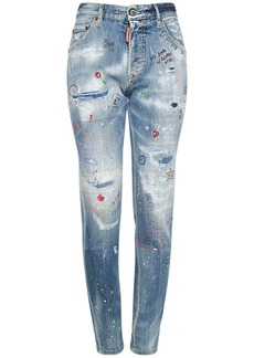 Dsquared2 Skinny Dan Cotton Stretch Denim Jeans