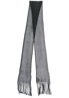 Dsquared2 skinny fringed scarf