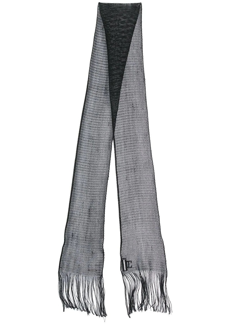 Dsquared2 skinny fringed scarf