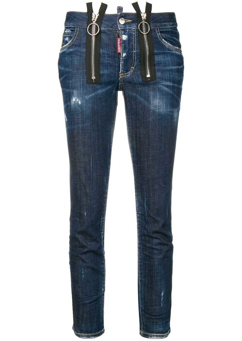Dsquared2 skinny straight cropped jeans