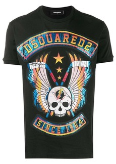 Dsquared2 skull graphic printed logo T-shirt