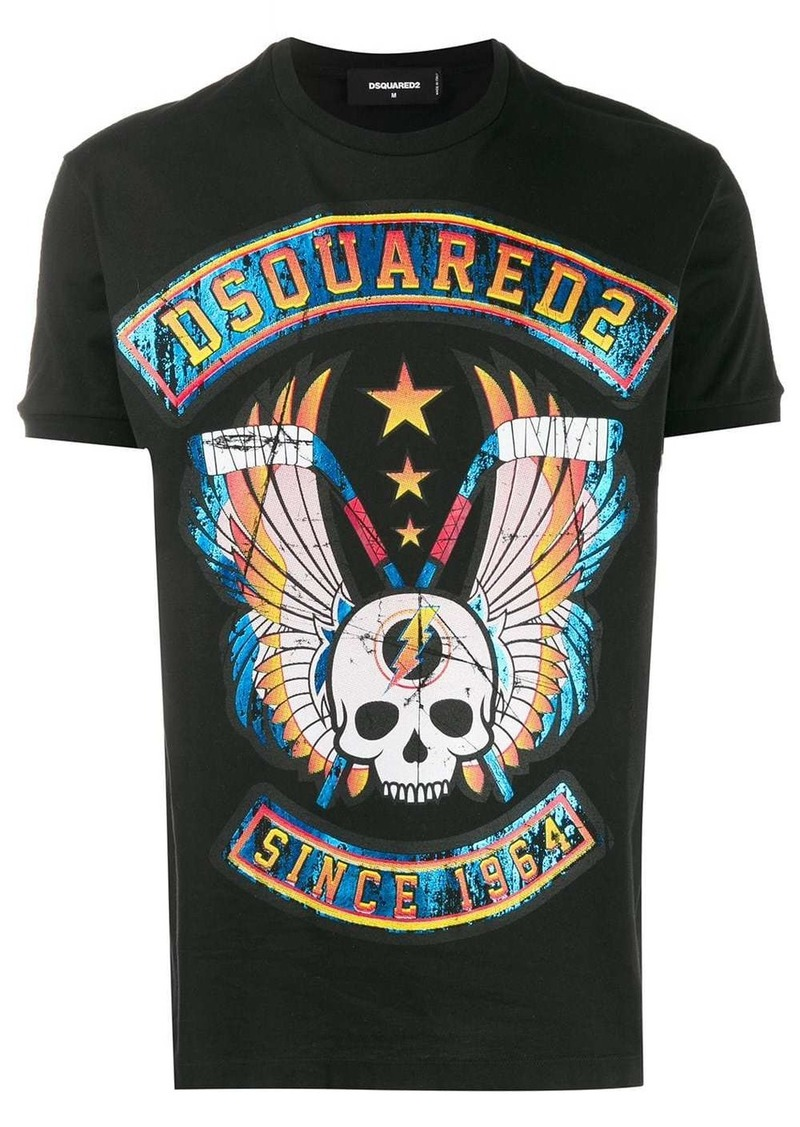 Dsquared2 skull graphic printed logo T-shirt