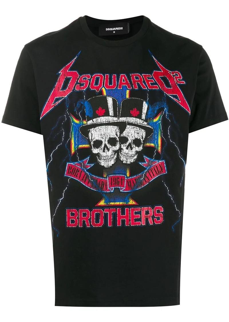 Dsquared2 skull logo print T-shirt
