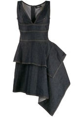 Dsquared2 sleeveless asymmetric hem dress