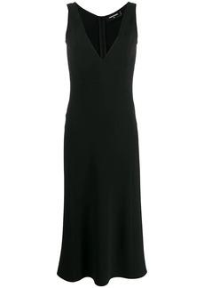 Dsquared2 sleeveless flared midi dress
