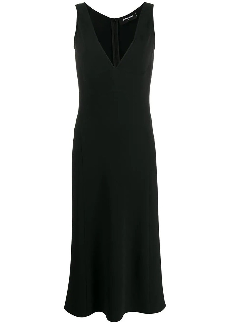 Dsquared2 sleeveless flared midi dress