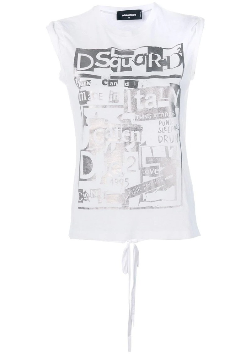 Dsquared2 sleeveless logo print T-shirt