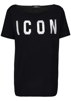 Dsquared2 Smoke Fit Crystal Icon Jersey T-shirt