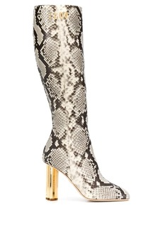 Dsquared2 snakeskin effect boots