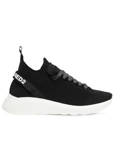 Dsquared2 Speedster Logo Band Tech Knit Sneakers