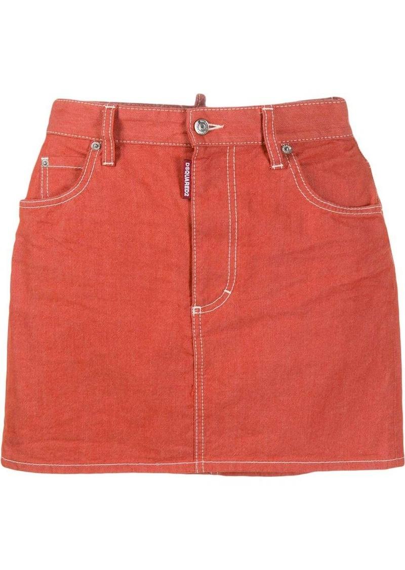 Dsquared2 stitching detail skirt