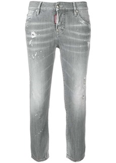 Dsquared2 stonewashed skinny crop jeans