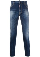 Dsquared2 stonewashed slim-fit jeans