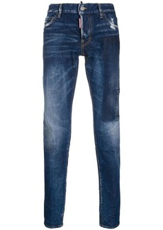 Dsquared2 stonewashed straight-leg trousers