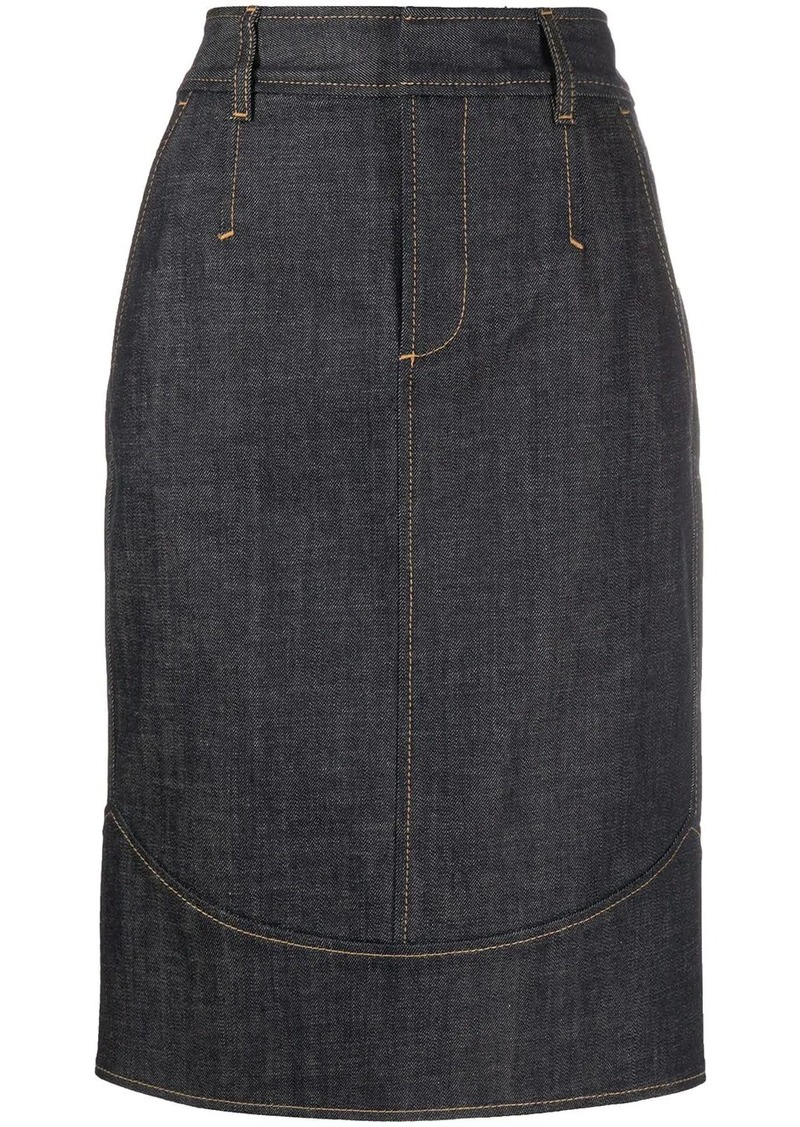Dsquared2 straight fit pencil skirt