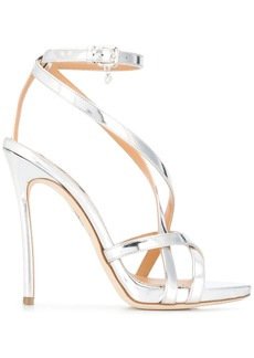 Dsquared2 strappy metallic sandals