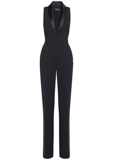 Dsquared2 Stretch Viscose Crepe Tux Jumpsuit