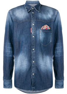 Dsquared2 stretch washed detail shirt