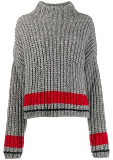 Dsquared2 stripe detail ribbed knit jumper