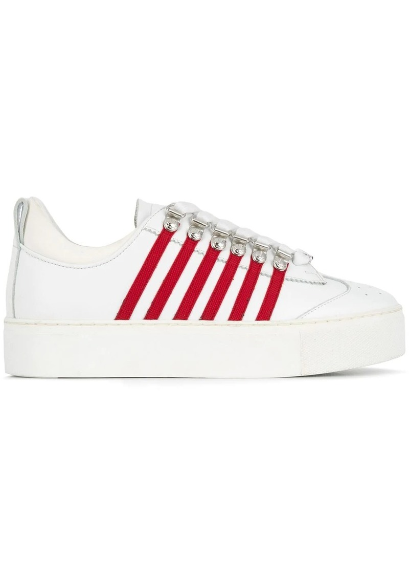 Dsquared2 stripe detail sneakers