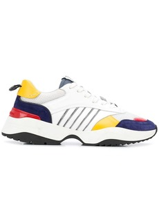 Dsquared2 striped chunky panelled sneakers